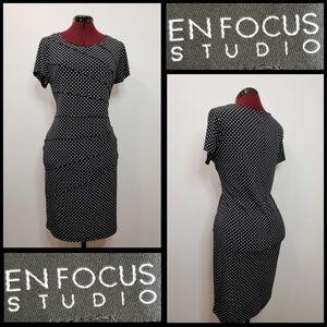 enfocus studio woman polka dots dress size 16